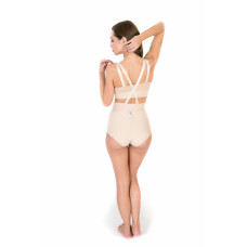 Low Waist Abdominal Girdle with Zipper, Stage I, Beige